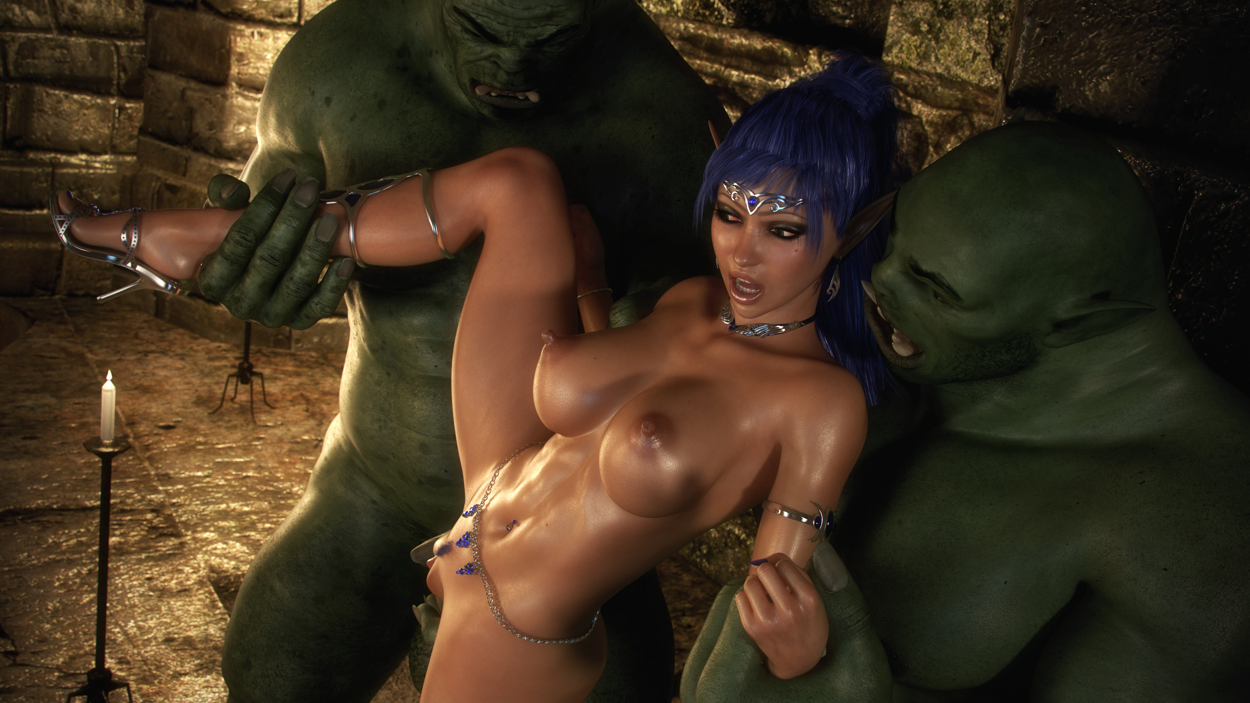 Sex scene from monster's dungeon hentai video