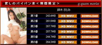 G-Queen - 2015/2016年冬 期間限定特別企画 【鈴木さとみ  愛しのパイパン妻】 [WMV/1.3G] - idols