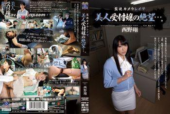 【監視攝影機強姦】漂亮櫃檯小姐的絕望…。西野翔